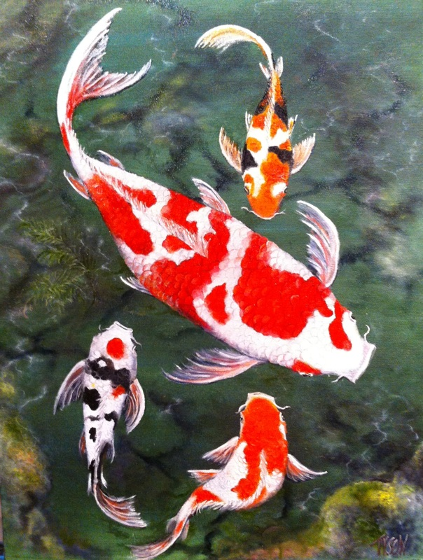 Goldfish and koi tyson environmental art for Goldfisch und koi